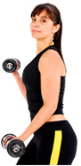 Hudson Valley Dutchess fit woman with dumbbells image