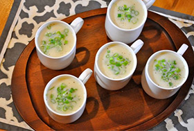 Celery Root & Green Onion Bisque