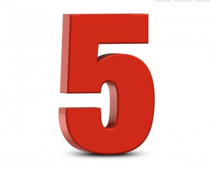 red-number-5