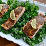 Honey Mustard Salmon & Kale