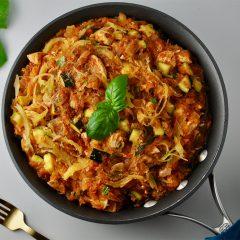 Chicken Spaghetti Skillet