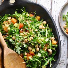Mediterranean Salad with Arugula and Quinoa
