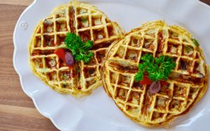 Savory Greek Waffles