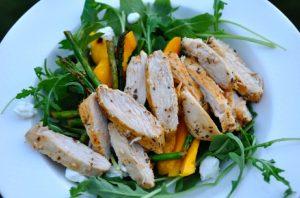 Summer Salad with Chicken, Arugula and Mango