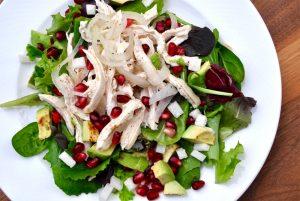 Wine Poached Chicken Salad