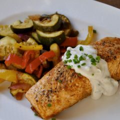 Chili-Roasted Salmon and Veggies
