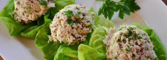 Hummus Tuna Lettuce Boats