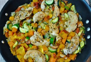 One Pot Chicken and Veggie Dinner