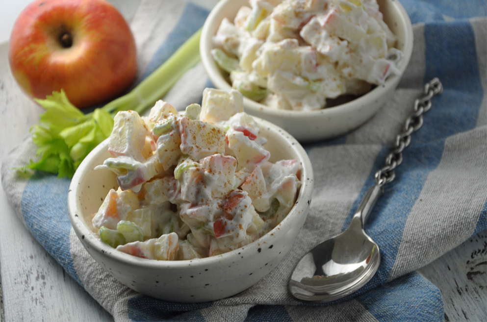 Creamy Apple Celery Salad with Protein