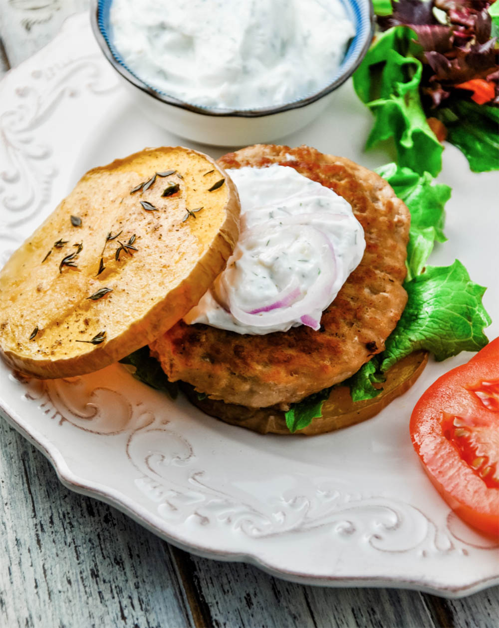 Turkey Burgers with Butternut Buns